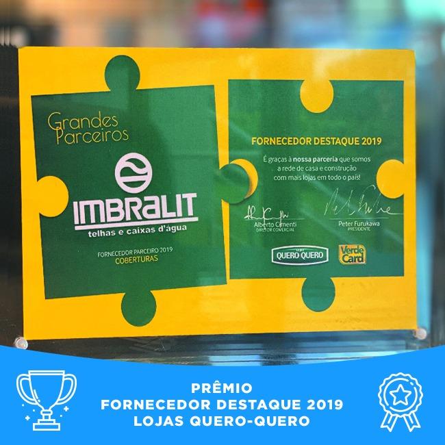 Imbralit é premiada como Fornecedor Destaque Lojas Quero-Quero